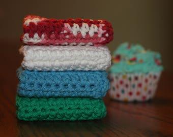Plain Jane Washcloth, Set of 4 Cotton Washcloths