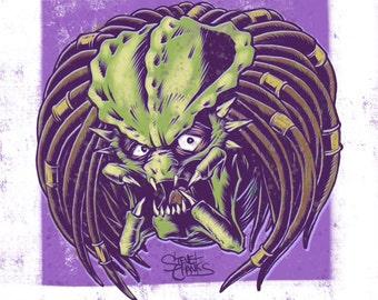 THE PREDATOR - Monster Head Print