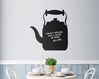 100x93cm Chalkboard TEA TIME Blackboard Decor Mural Decals Wall Sticker Restaurant/Fast food/Take-out/Cafe/Food buffet/Diner/Bistro/BBQ/Menu