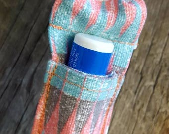 Southwest Lip Balm Keychain, Lip Balm Case, Lip Balm Holder