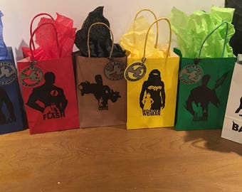 Justice League(DC Comic) Inspired Favor Bags