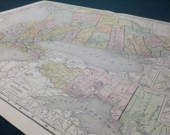 Great lakes map Etsy