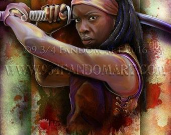 Art Retirement SALE / Michonne / TWD / Fan Art