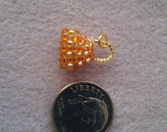 Mini Silverlined Gold/Silverlined Orange Handbag