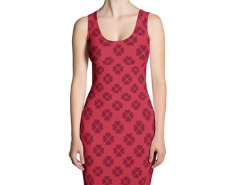 Red 4 Hearts,Sublimation Cut & Sew Dress,Prinful, Hand Sew, USA