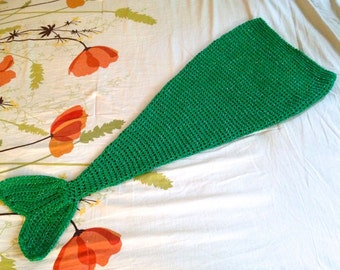 Mermaid Tail Blanket - Mermaid Blanket - Mermaid Tail Sack - Child Mermaid Tail Blanket - 12 Months through Child 10/12 - Made to Order