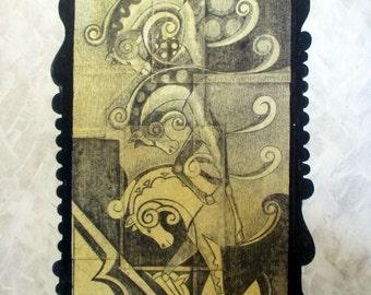 Horses fantasy. Original pencil drawing. graphite drawing. Original drawing. Original gift. Wedding gift.