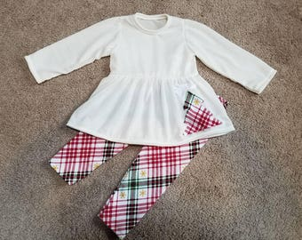 18 Month Christmas Sweater Dress with soft knit christmas Leggings/pants