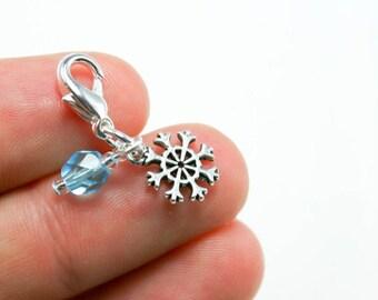 Frozen Snowflake Charm. Blue Snowflake Charm. Snowflake Charm for Bracelet. SCC084