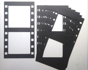 10 Extra Large Die Cut Filmstrips That Will Hold Two Pictures Each/Embellishments/Die Cuts/Scrapbooking/Paper Cuts/Film Strip/Picture