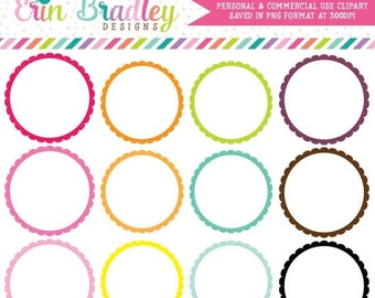 80% OFF SALE Digital Scrapbooking Frames Clipart Clip Art Personal & Commercial Use