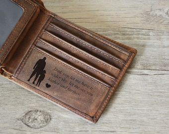 Personalized Mens Wallet, Father's Day Wallet, Engraved Wallet, Personalized Monogrammed Leather Wallet,  Wallet , Father's Day gift