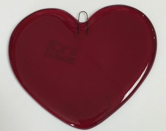 Heart Fused Glass Ornament