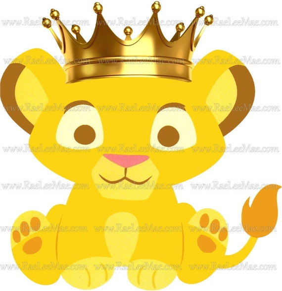 Crowned Simba Lion King Cutouts Diecuts Lion King Baby Shower