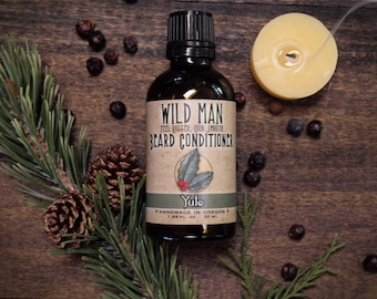 Holiday Beard Oil Conditioner Wild Man - YULE - Limited Edition - 50ml // 1.69oz Mens Gift