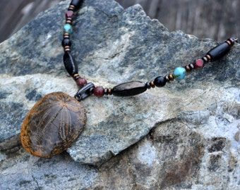 Fossilized Sand Dollar Necklace