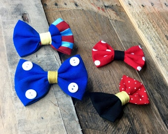 The Lillian - Our hair bows in Mickey, Minnie, Snow White, and Donald colors