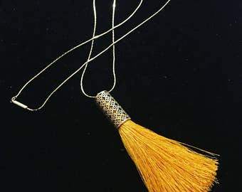 The Canary Tassel Necklace