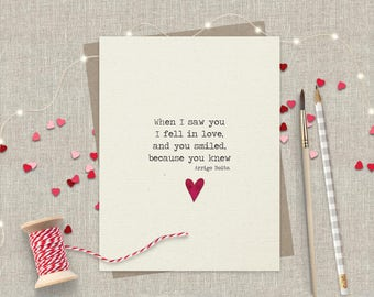 Valentines Day Card - Romantic Love Card - Anniversary Card - Card for Husband - Card for Boyfriend - Card for Girlfriend - Card for Wife