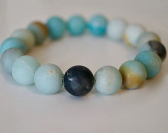 Amazonite Beaded Bracelet / Handmade Jewelry / Stackable Bracelet
