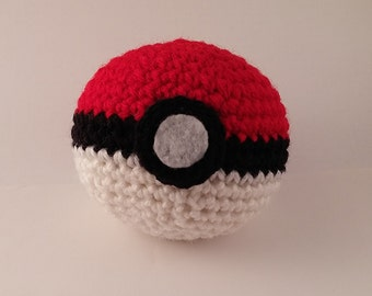 Crochet Pokemon Pokeball Plush