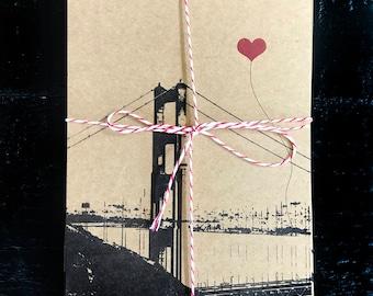 San Francisco Lover's postcard set