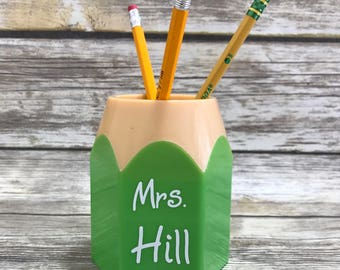 Personalized Pencil Holder, Student Teacher Gift, Teacher Appreciation Gift, Back To School, Desktop Pencil Holder, Desk Accessory