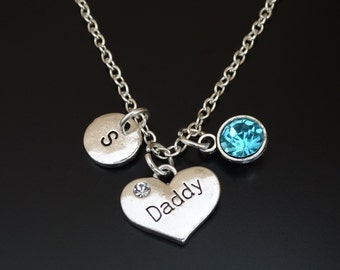 Daddy Necklace, Daddy Charm, Daddy Pendant, Daddy Jewelry, Dad Necklace, Dad Jewelry, Father Necklace, Daughter and Daddy, Father, Daughter