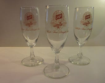 Vintage Schlitz Brand Tulip Beer Glasses