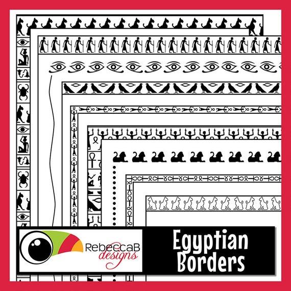 Jeroglíficos, imágenes prediseñadas fronteras, fronteras egipcias ...