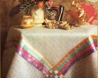 tablecloth sewing pattern instruction pdf table cloth instruction to make a 108cm square voile & ribbon tablecloth pdf instant download