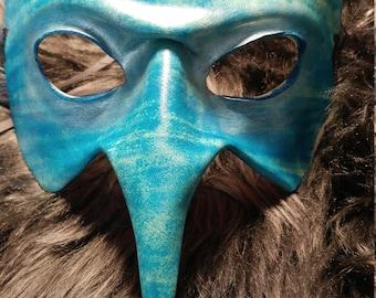 Blue leather mask