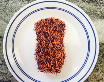 Orange and Purple Dish Scrubby