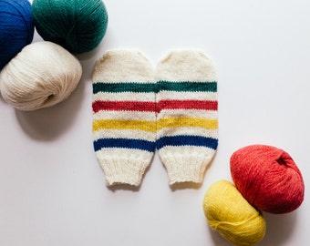 Hidson's Bay Knit Mittens