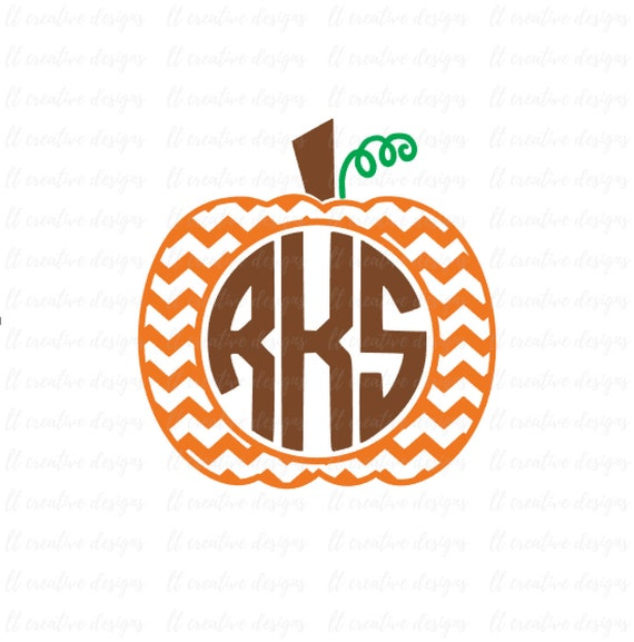 Chevron Pumpkin SVG Pumpkin Monogram SVG Pumpkin Frame SVG