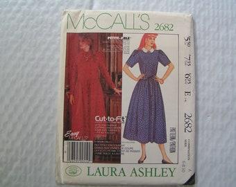 Vintage McCalls Pattern 2682 Laura Ashley Miss Dress and Tie Belt