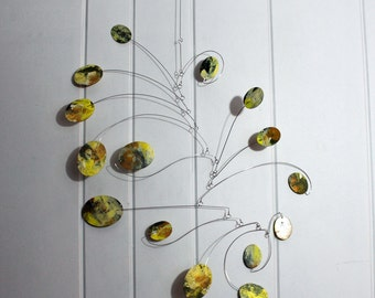 Mobile, Kinetic Art, READY TO SHIP, Mobile Sculpture, Art Mobile, Adult Mobile, Living Room Art, Grandmothers Garden Mobile, Calder Inspired