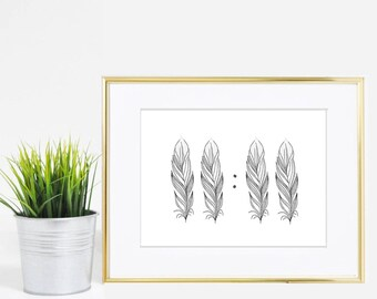 5x7 Synchronicity 11:11 In Feathers Print - Digital Download
