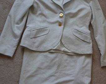 SALE White pinstripe suit by Chrisper eu 50, UK 16 - 18