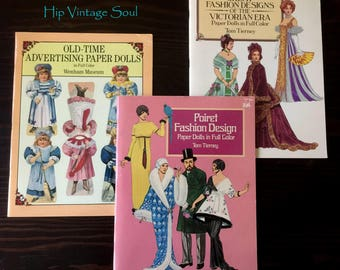 REDUCED, Vintage Fashion/Advertising Paper Doll Books, 1985-1990 Paper Doll Books, Vintage Paper Dolls, Poinet /Victorian Paper Dolls