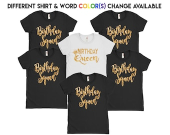 Birthday Squad Shirts // Birthday queen Shirt // Birthday party shirts // Birthday group shirt // View Item details for order instructions