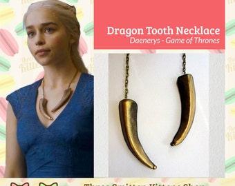 Game of Thrones Daenerys Double Dragon Talon Necklace