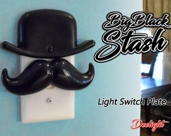 Big Black Stash Light Switch Plate