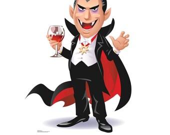 Cartoon Dracula Life-Size Cardboard Cutout