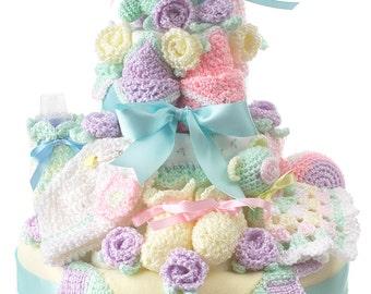 How to Make a Crochet Nappy Cake pattern pdf
