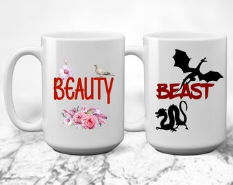 Beauty and Beast - Couples Mugs - coffee cups