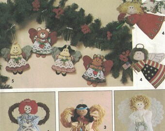 Simplicity 7549 Vintage Pattern - Angel Tree Topper and Ornaments in Variations UNCUT Craft Pattern