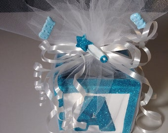 Baby block candle / candy favors