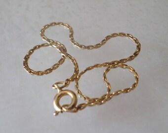 14K Gold Filled Stamped, Link Chain Bracelet.