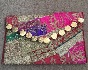women party clutch/ patchwork clutch/ wedding clutch / bridal clutch